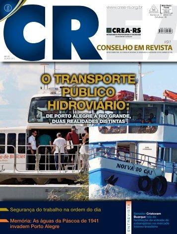 o transporte público hidroviário - Crea-RS