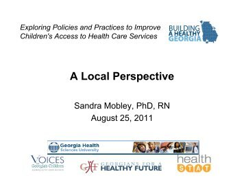 Exploring Policies and Practices to Improve Children's Access to ...