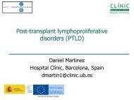 Post-transplant lymphoproliferative disorders (PTLD)