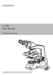 LABOMED Lx 500 Compound Microscope Manual - Meyer ...