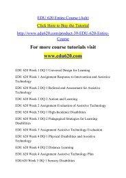 EDU 620 Entire Course (Ash).pdf