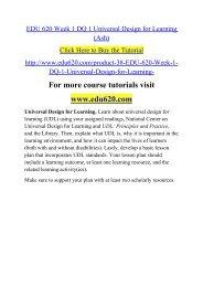 EDU 620 Week 1 DQ 1 Universal Design for Learning (Ash).pdf