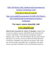 EDU 620 Week 2 DQ 1 Referral and Assessment for Assistive Technology (Ash).pdf