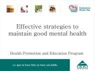 Effective strategies to maintain good mental health - MMM