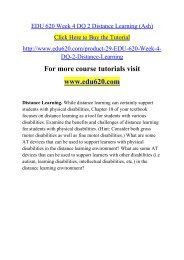 EDU 620 Week 4 DQ 2 Distance Learning (Ash)
