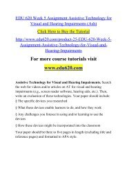 EDU 620 Week 5 Assignment Assistive Technology for Visual and Hearing Impairments (Ash).pdf