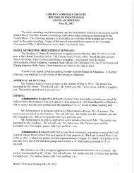 5-20-2013 Minutes - Liberty Township