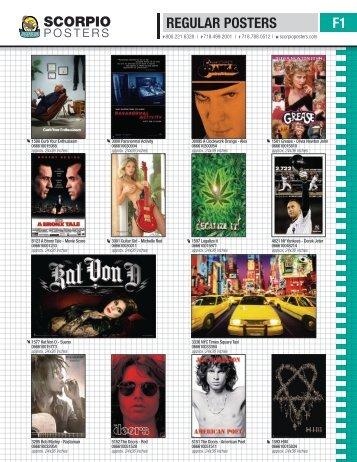 REGULAR POSTERS F1 - Scorpio Posters Inc