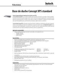 Base de duche Concept XPS standard - Butech