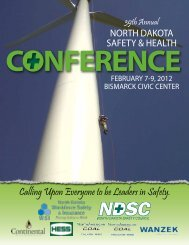 Conference Brochure low res - the North Dakota Safety Council