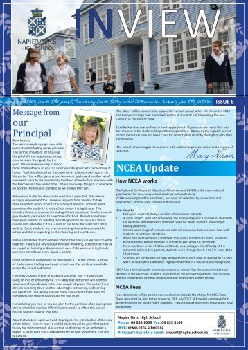 Newsletter Issue 8 1-June 2012 - nghs.school.nz