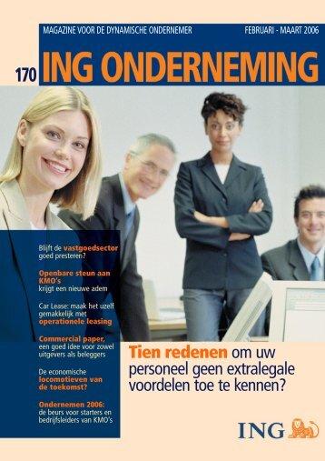 Ondernemen 2006 - ING Onderneming - ING Belgium