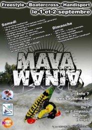 SAMEDI 1 & DIMANCHE 2 Septembre 2012 MAVAMANIA