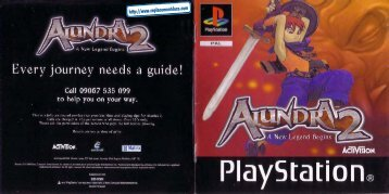 Alundra 2 - UK Manual - PSX - RPGamers-fr
