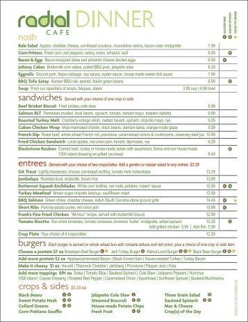 crops & sides $3.29 ea nosh - Radial