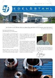 Edel&Stahl 01/2010 - E und F Metall und Rohrleitungsbau GmbH