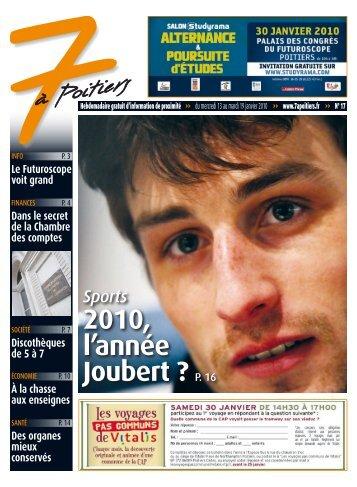 n° 17 voir ce numéro - 7 à Poitiers