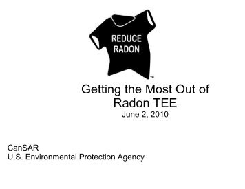 Getting the Most Out of Radon TEE - Radon Leaders Saving Lives