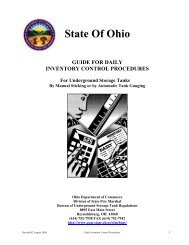 State Of Ohio - Ohio Petroleum Underground Storage Tank Release ...