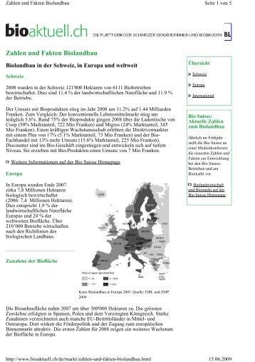 Zahlen und Fakten Biolandbau - Organic Europe