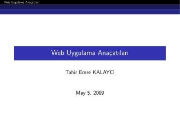 Web Uygulama Anaçatıları