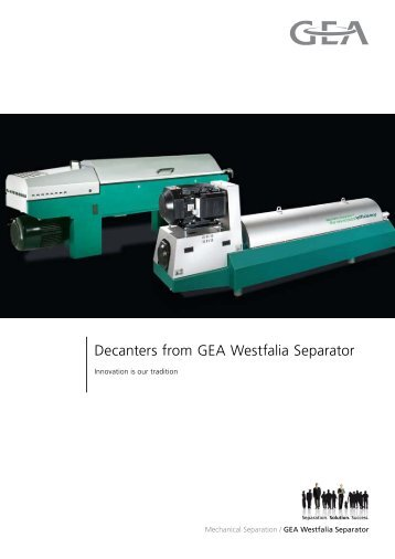 Decanters from GEA Westfalia Separator pdf, 2.6 MB
