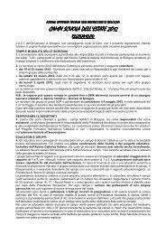 Regolamento Campi 2012 - Azione Cattolica Bologna