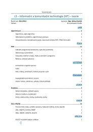 L3 – Informační a komunikační technologie (IKT) – teorie