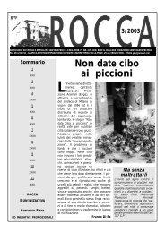 ROCCA imp. '03 - La Rocca - il giornale di Sant'Agata Feltria