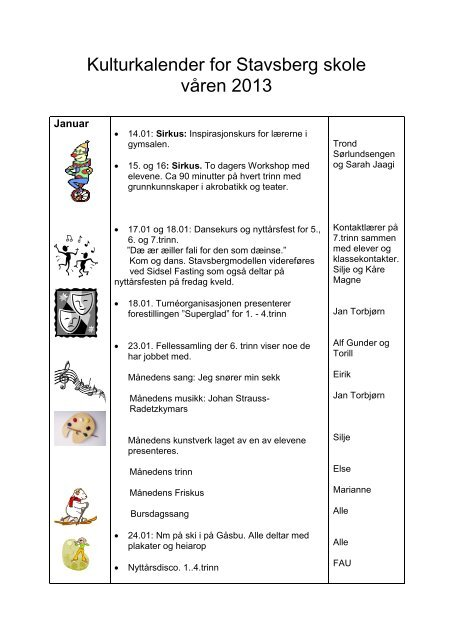 Kulturkalender vår 2013 - Ringsaker kommune