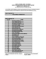 final list of candidates called for interview for the post of research ...