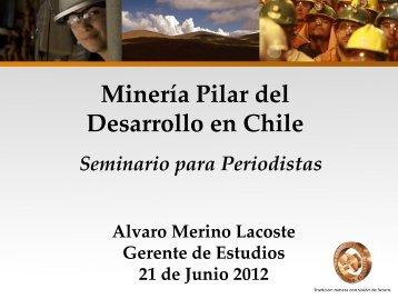 Minería Pilar del Desarrollo en Chile - Sonami