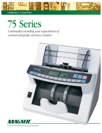 CURRENCY COUNTERS 75 Series - DieboldDirect