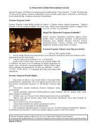 LLP/ERASMUS ÖĞRENĠM HAREKETLĠLĠĞĠ Erasmus Programı ...