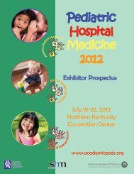 Exhibitor Prospectus - Academic Pediatric Association