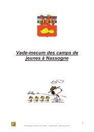 Vade-mecum des camps de jeunes à Nassogne - PSSP