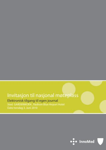 Seminar elektronisk tilgang egen journal - Innomed