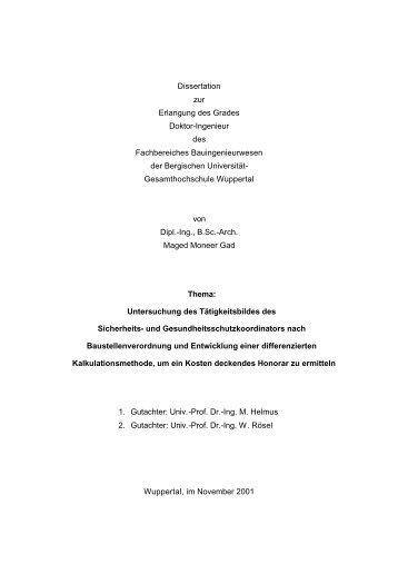Dissertation zur Erlangung des Grades Doktor-Ingenieur des ...