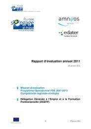Rapport d'évaluation annuel 2011 - FSE