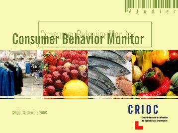 Consumer Behavior Monitor - Crioc