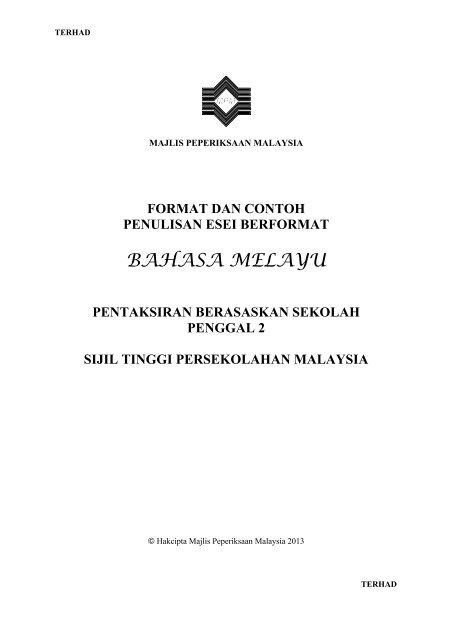 Contoh Kerja Kursus Bahasa Melayu Stpm Penggal 3