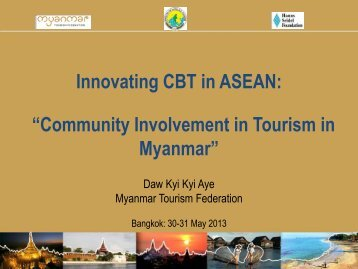 Community Involvement in Tourism in Myanmar
