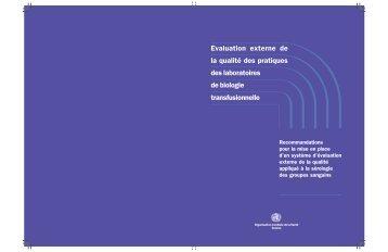 Evaluation externe de la qualité des pratiques des laboratoires de ...