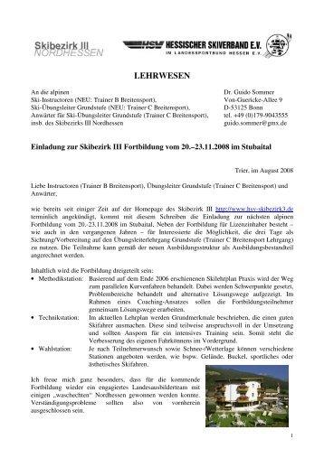 lehrwesen - HSV Skibezirk III