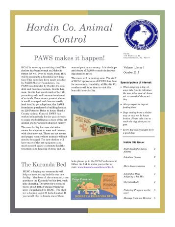 Animal Control Newsletter - Hardin County Government