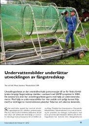 Undervattensbilder underlättar utvecklingen av fångstredskap