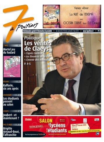 n° 23 voir ce numéro - 7 à Poitiers