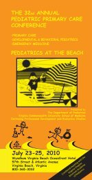THE 32nd ANNUAL PEDIATRIC PRIMARY CARE CONFERENCE