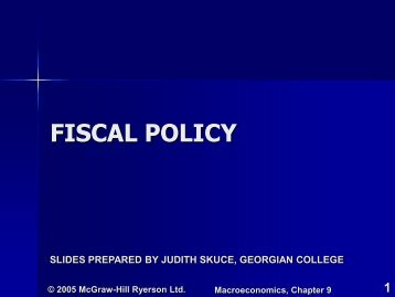 Chapter 9 - Fiscal Policy