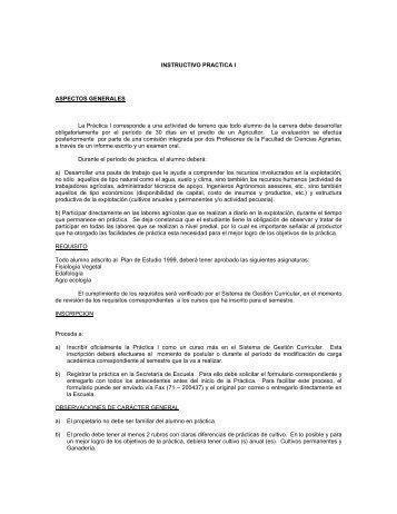 INSTRUCTIVO PRACTICA I ASPECTOS GENERALES La Práctica I ...